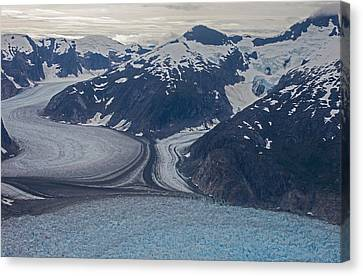 Glacial Curves Canvas Print by Mike Reid