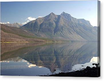 Glacier Reflection1 Canvas Print by Marty Koch