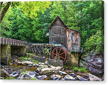 Glade Creek Grist Mill 2 Canvas Print by Steve Harrington