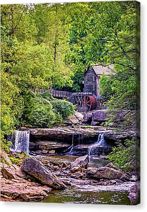 Glade Creek Grist Mill 3 Canvas Print by Steve Harrington
