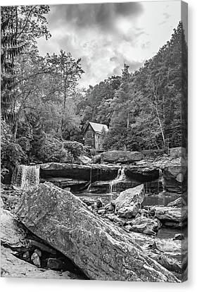 Glade Creek Grist Mill 4 Bw Canvas Print by Steve Harrington