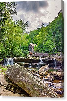 Glade Creek Grist Mill 4 Canvas Print by Steve Harrington