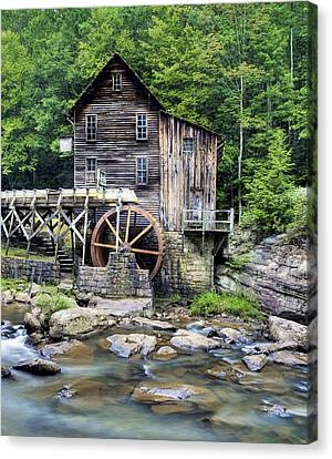 Glade Creek Grist Mill In West Virginia Hdr Canvas Print by Brendan Reals