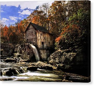 Glade Creek Grist Mill Canvas Print by Mark Allen