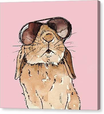 Glamorous Rabbit Canvas Print by Katrina Davis
