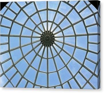 Glass Dome At Hall Of Liberation At Kelheim  Canvas Print by Lori Seaman
