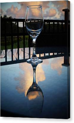 Glass Empted Canvas Print by Chauncy Holmes
