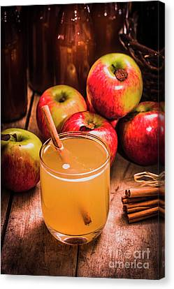 Glass Of Fresh Apple Cider Canvas Print by Jorgo Photography - Wall Art Gallery