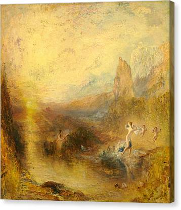 Glaucus And Scylla  Canvas Print by Joseph Mallord William Turner