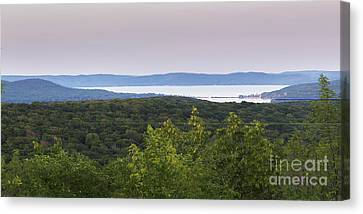 Glen Lake From Sleeping Bear Dunes Canvas Print by Twenty Two North Photography