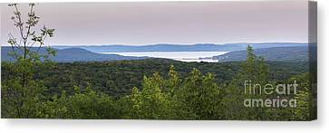 Glen Lake Panorama From The Dunes Canvas Print by Twenty Two North Photography