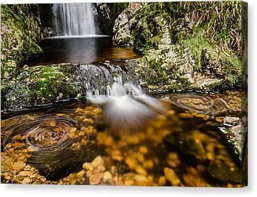 Glenevin Waterfall Clonmany Canvas Print by Martina Fagan
