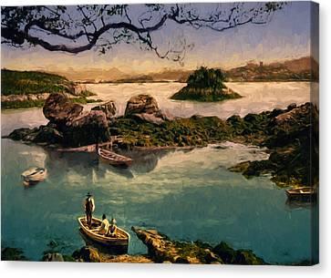 Glengarriff Harbor Canvas Print by John K Woodruff