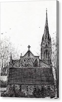 Glenmuick Church Canvas Print by Vincent Alexander Booth
