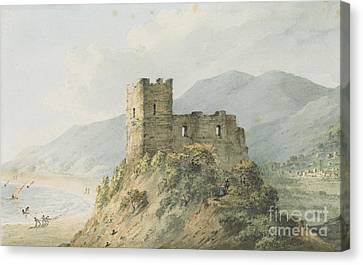 Glensanda Castle Loch Linnhe Canvas Print by John Warwick