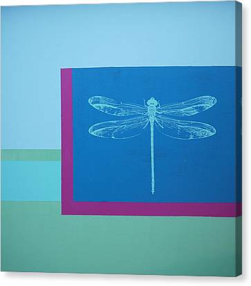 Glimspe Of Nature-dragonfly Canvas Print by Bitten Kari