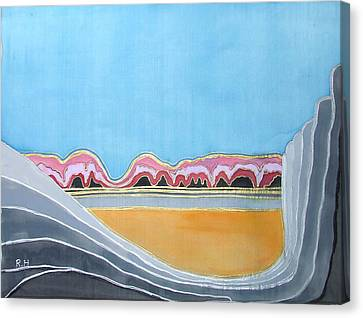 Global Warming Silk Melting Glaciers Valley Or Where Did All My Blue Glaciers Go  Canvas Print by Rachel Hershkovitz