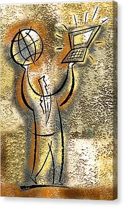 Globalization Canvas Print by Leon Zernitsky