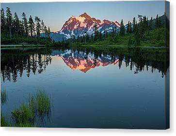 Glow Over Picture Lake Canvas Print by Jon Glaser