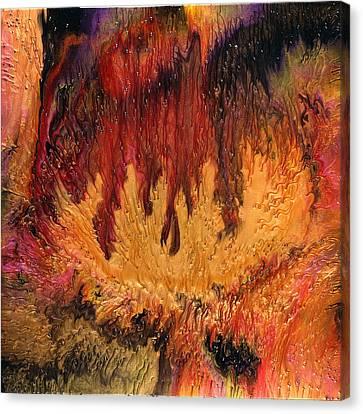 Glowing Caves Canvas Print by Paul Tokarski
