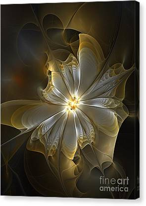 Glowing In Silver And Gold Canvas Print by Amanda Moore