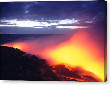 Glowing Lava Flow Canvas Print by William Waterfall - Printscapes
