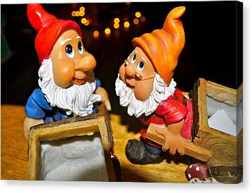 Gnome Friends Canvas Print by Brynn Ditsche