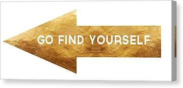 Go Find Yourself- Art By Linda Woods Canvas Print by Linda Woods