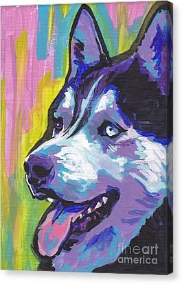 Go Husky Canvas Print by Lea S