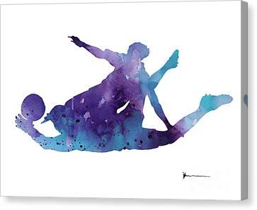 Goalkeeper Poster Canvas Print by Joanna Szmerdt