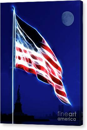 God Bless America Canvas Print by Wingsdomain Art and Photography
