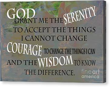 God Grant Me The Serenity Canvas Print by Beverly Guilliams