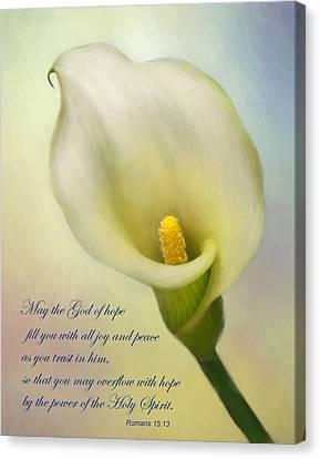 God Of Hope Canvas Print by David and Carol Kelly
