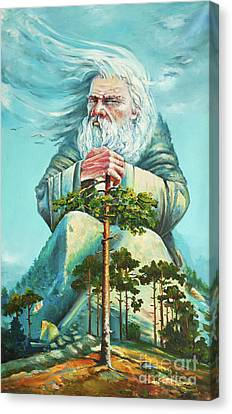 God Of The Forest Canvas Print by Kristian Leov