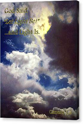 God Said... Canvas Print by Glenn McCarthy Art and Photography