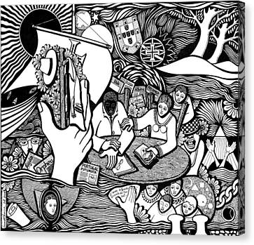 God Wills Man Dreams The Work Is Born Canvas Print by Jose Alberto Gomes Pereira