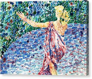 Goddess Canvas Print by Bonnie Follett