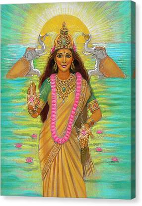 Goddess Lakshmi Canvas Print by Sue Halstenberg