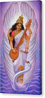 Goddess Saraswati Canvas Print by Sue Halstenberg