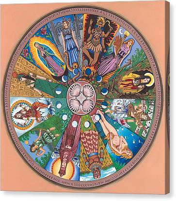 Goddess Wheel Guadalupe Canvas Print by James Roderick