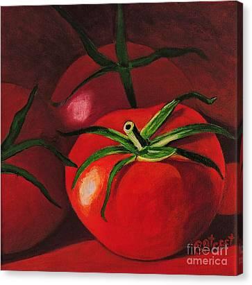 God's Kitchen Series No 3 Tomato Canvas Print by Caroline Street