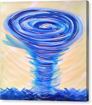 God's Power Overcomes Canvas Print by Deborah Brown Maher