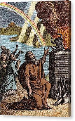 Gods Rainbow Answers Noahs Sacrifice Canvas Print by Science Source