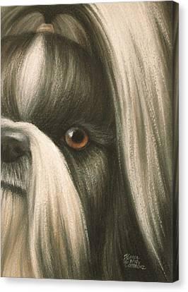 Goggie Shih Tzu Canvas Print by Karen Coombes
