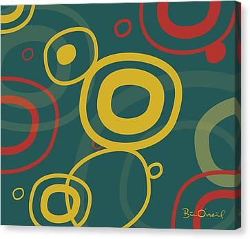 Gogo - Retro-modern Abstract Canvas Print by Bill ONeil
