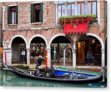 Going For A Gondola Ride Canvas Print by Frozen in Time Fine Art Photography
