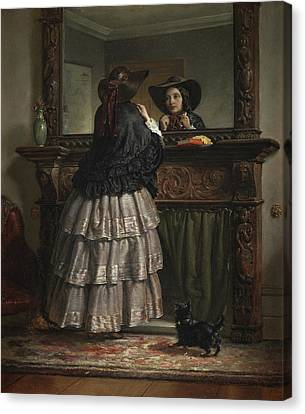 Going Out  Canvas Print by Philip Hermogenes Calderon