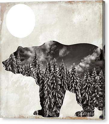 Going Wild Bear Canvas Print by Mindy Sommers