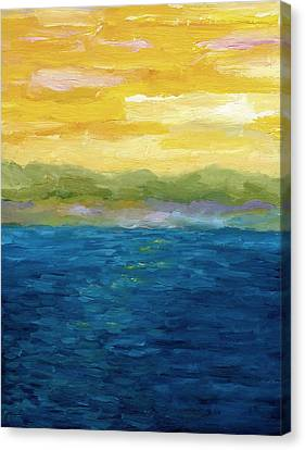 Gold And Pink Sunset  Canvas Print by Michelle Calkins