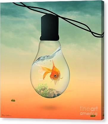 Gold Fish 4 Canvas Print by Mark Ashkenazi
